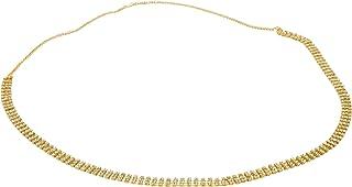 Handicraft Kottage 3 Layer CZ Stone Gold Plated Kamar Bandhan Kamarband Kamarpatta Belly Hip Chain Waist Belt for Women & ...