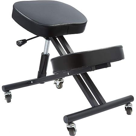 CO-Z バランスチェア バックボーンチェア 姿勢矯正 骨盤椅子 骨盤矯正 腰痛 オフィスチェアー 高さ調整 人間工学 ニーリングチェア (Bキャスター付き)