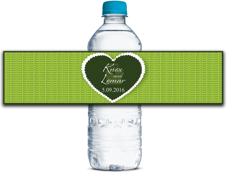 Personalisierte Wasserflasche Wasserflasche Wasserflasche Etiketten Selbstklebende wasserdichte Kundenspezifische Hochzeits-Aufkleber 8  x 2  Zoll - 50 Etiketten B01A0W21C2    Deutschland Outlet  8f5bac