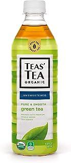 Teas' Tea Unsweetened Pure Green Tea 16.9 Ounce (Pack of 12) Organic, Sugar Free, 0 Calories