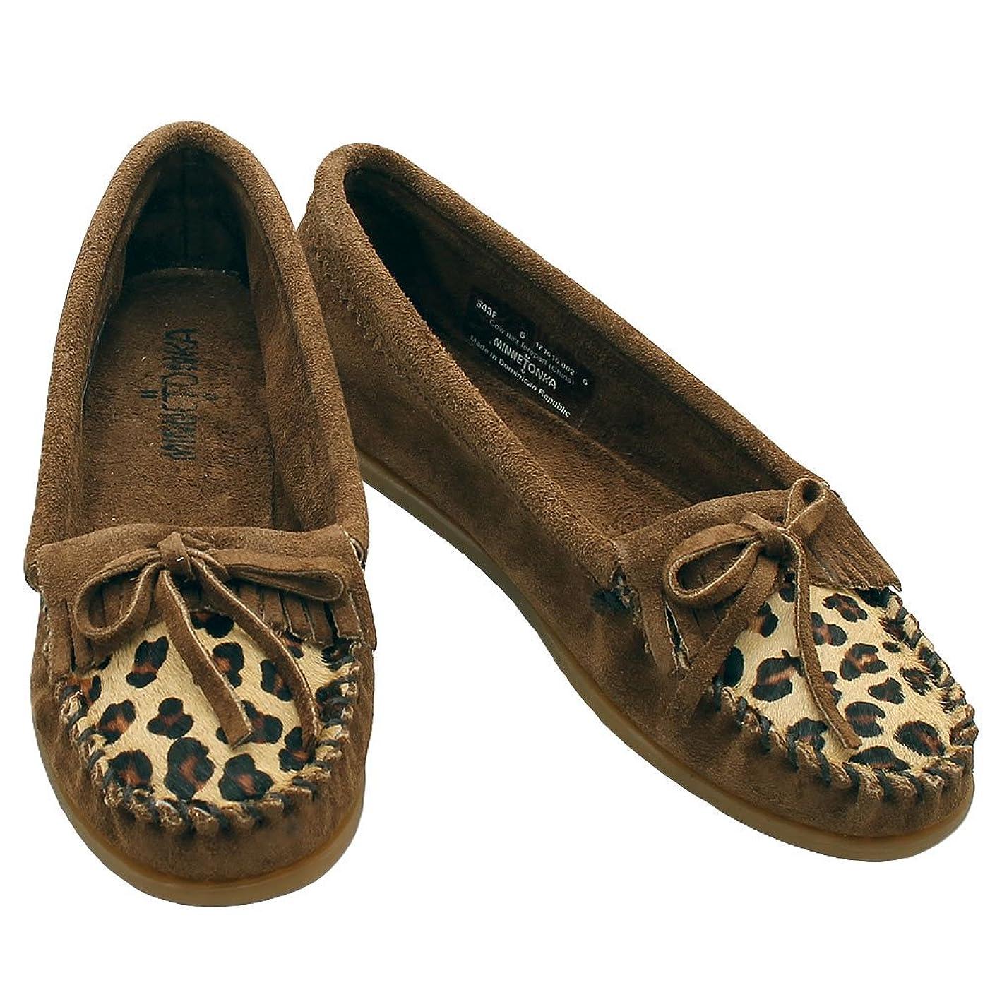 幹一般的にタイプライター[ミネトンカ] モカシン Leopard Kilty Moc レオパード キルティモック