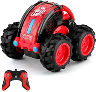 Tobeape Remote Control Car, 1/24 Scale Amphibious Vehicle for Kids 2.4GHz Off Road RC Truck with 4WD Electric Toy Car, 360° Spins & Flips High Speed RC Stunt Car Great Gift for Kids