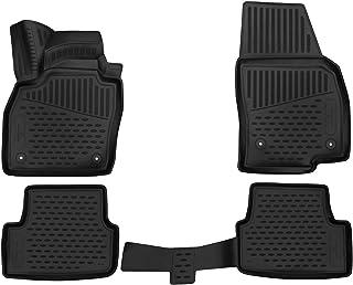 Walser XTR Gummifußmatten kompatibel mit Seat Ibiza V (KJ1) Baujahr 2017   Heute, passgenaue Auto Gummimatten, Autofußmatten Gummi