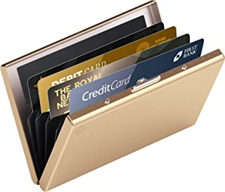 High-Class Stainless Steel Card Wallet   Ideal Credit Card Holders, Business Card Holder, Metal Slim Wallet, Minimalist RF...