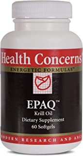Health Concerns - EPAQ - Krill Oil Chinese Dietary Supplement - Anti-Inflammation Support - with Krill Oil - 60 Softgels per Bottle