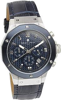 [サルバトーレマーラ] 腕時計 ウォッチ ブルー クロノグラフ 10気圧防水 ビジネス フォーマル メンズ