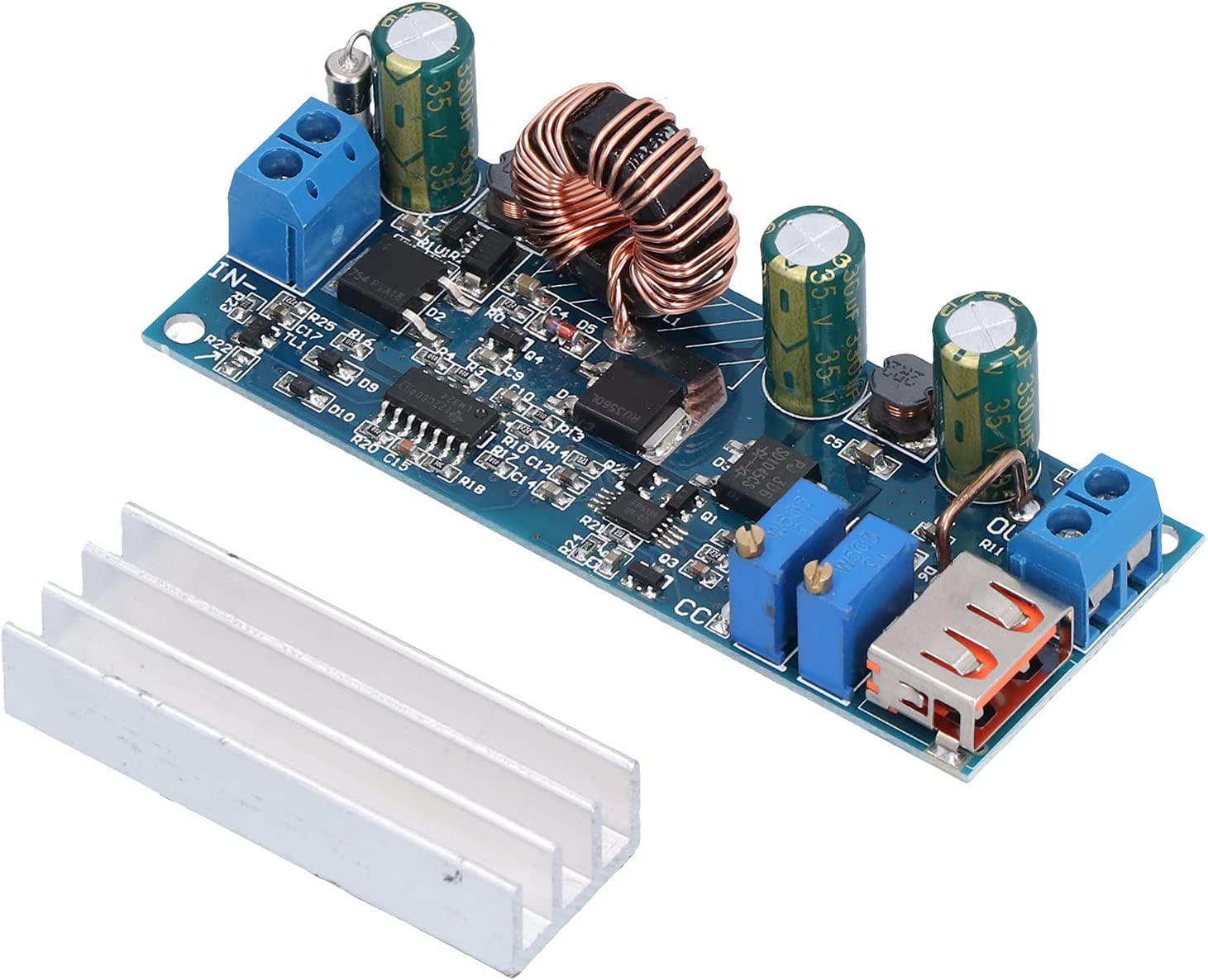 Boost Module, Step‑Up Module, 80W High Power Constant Voltage Current Backflowproof Step‑Up Converter Module for Lithiums Battery