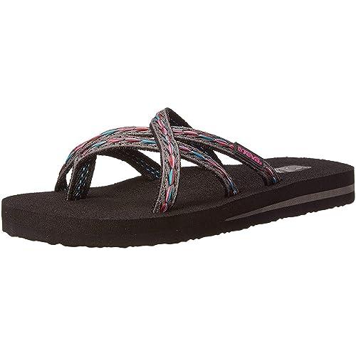 d9c528287 Teva Women s Olowahu Flip-Flop - 9 B(M) US - Felicitas Black