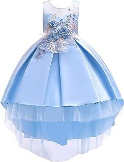 2-10T Kids Hi-Lo Party Formal Dresses Princess Girls Gorgeous Flower Girl Dress