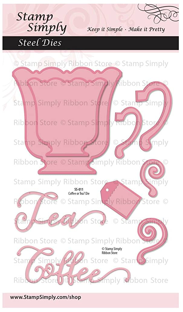 Stamp Simply Clear Stamps Coffee Cup or Tea Mug Steel Die Set 4x6 Inch Sheet - 9 Pieces