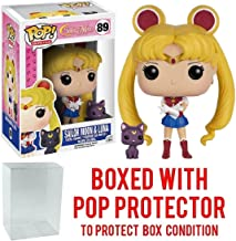 Funko Pop! Anime: Sailor Moon - Sailor Moon with Luna Vinyl Figure (Bundled with Pop BOX PROTECTOR CASE)