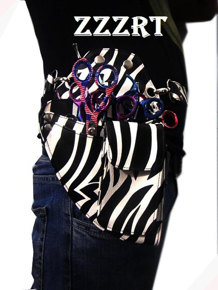 ZZZRT ZS-1002 New Professional Hairdressing Scissors Shear Wallet Holster holder pouch White Zebra