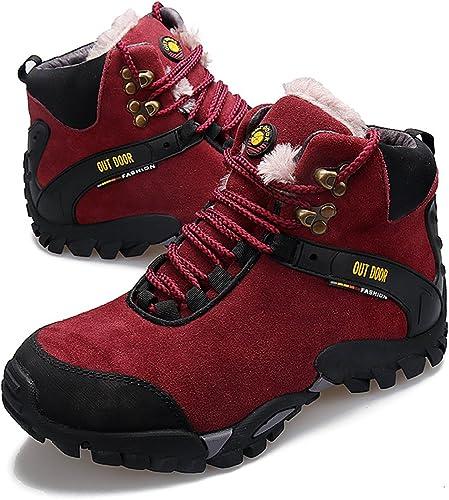 GOMNEAR Bottes de randonnée Homme Chaussures de de de randonnée Trekking Homme Bottines de Sport en Daim à Cheville en Daim 2e8