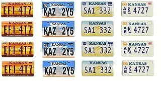 1: 25 scale model car Kansas license tag plates