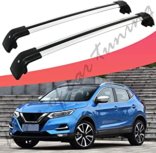 king of car tuning Silver Crossbars Cross Bars Roof Rail Racks Fits for Nissan Qashqai Rogue Sport 2017 2018 2019 2020