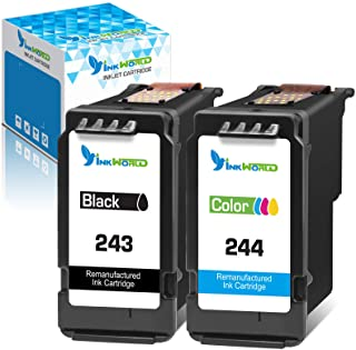 InkWorld Remanufactured 243 244 Ink Cartridge Replacement for Canon PG243 CL244 245 246 Combo Pack for MG3022 MG2522 TR452...
