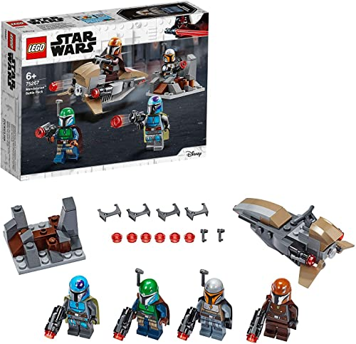 LEGO Star Wars Mandalorian Battle Pack 75267 Mandalorian Shock Troopers and Speeder Bike Building Kit; Great Gift Ide...