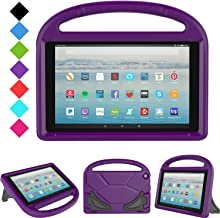 All-New Fire HD 10 2019/2017 Tablet Case - TIRIN Light Weight Shock Proof Handle Stand Kids Friendly Case for Amazon Fire HD 10.1 Inch Tablet (9th/7th Generation, 2019/2017 Release), Purple