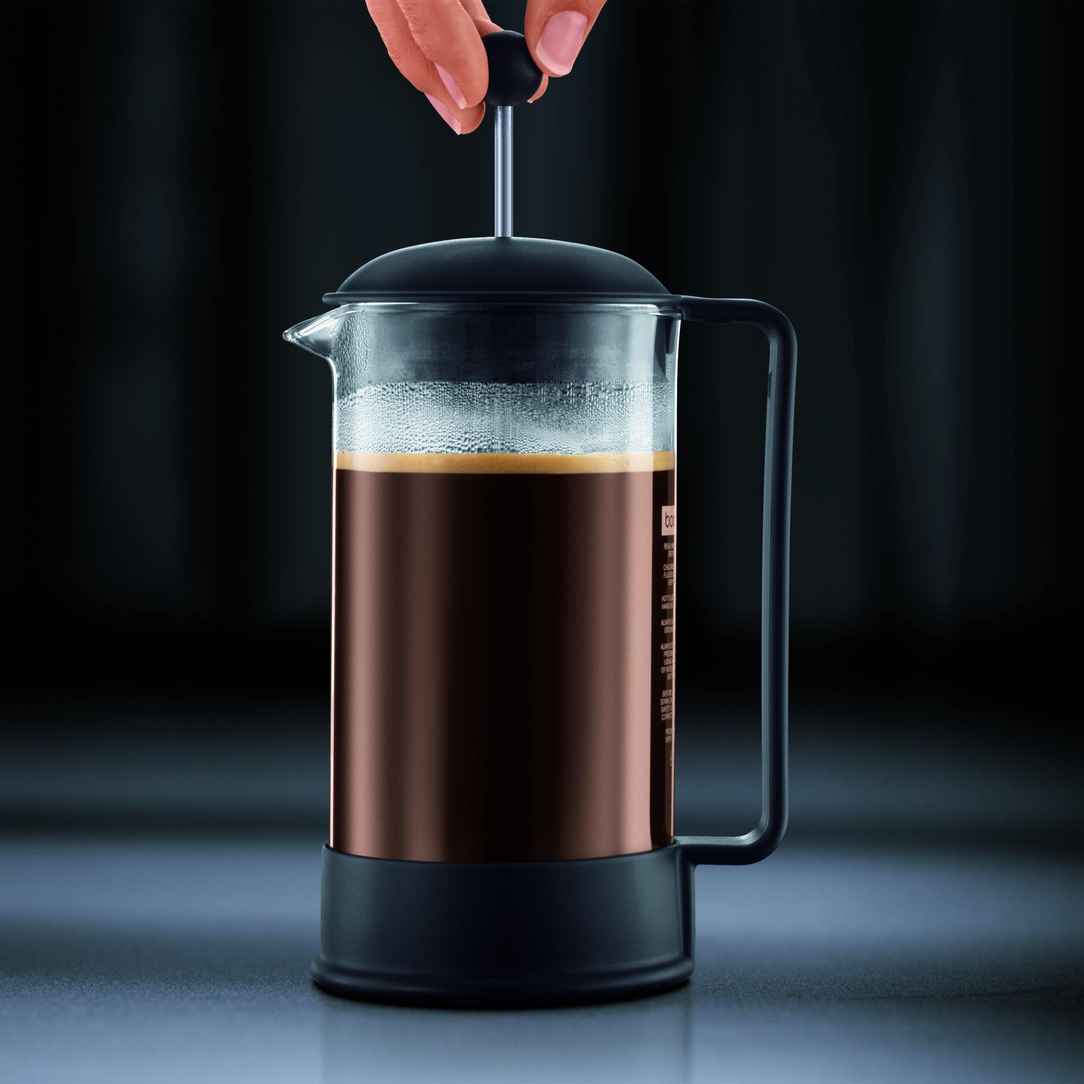 Bodum Brazil Cafetera émbolo, Negro, Transparente, Centimeters: Amazon.es: Hogar