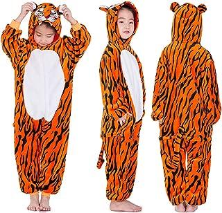 Fleece Onesies Pajamas for Kid Cartoon Animal Unicorn Christmas Halloween Cosplay Onepiece Costume