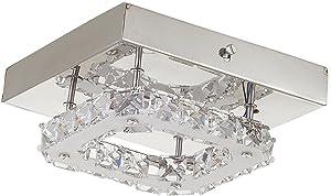 Glighone Lámpara de Techo Cristal 40W Lámpara de Araña Lámpara Colgante Luz Moderna Iluminación Contemporáneo Elegante Casquillo E27