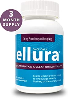 ellura 36 mg PAC (90 caps) – Medical-Grade Cranberry Supplement for UTI Prevention – Highest Potency
