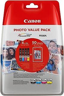 Canon original ink 6443B006, CLI-551XL C/M/Y/BK Photo Value Pack, CMYK, blister pack, Canon Pixma iP7250,iP8750,iX6850,MG5...