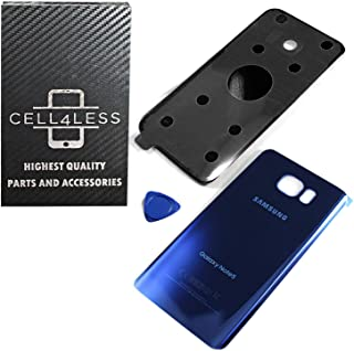 CELL4LESS Replacement Rear Back Glass Back Cover Galaxy Note 5 w/Removal Tool & Pre-Installed Adhesive - Fits N920 Models Any Carrier - 2 Logo (Sapphire Blue)