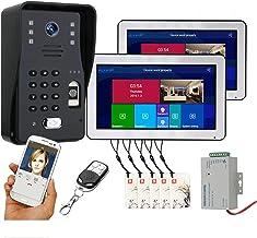 Wifi Video Deurbel, Vingerafdruk Wachtwoord Afstandsbediening App Ontgrendelen, 10 Inch Video Deurtelefoon Intercom, Nacht...
