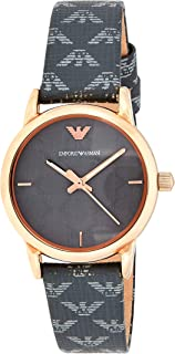 Emporio Armani Women's Quartz Watch, Chronograph Display and Leather Strap AR1837