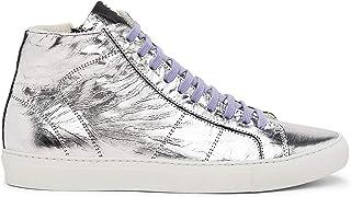P448 Women's Star2.0 Silver Metallic Leather Sneaker