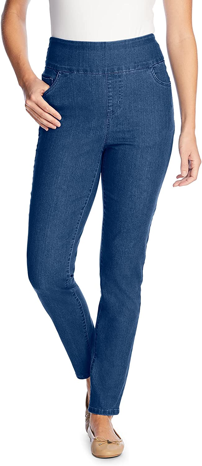 Woman Within Women's Plus Size Tall Pull-On Skinny Jean