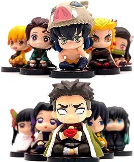 10st / Set Anime Figurer Demon Slayer: Kimetsu No Yaiba Nezuko Zenitsu Tanjirou Giyuu Inosuke Actionfigur Modell Tårtdekor...