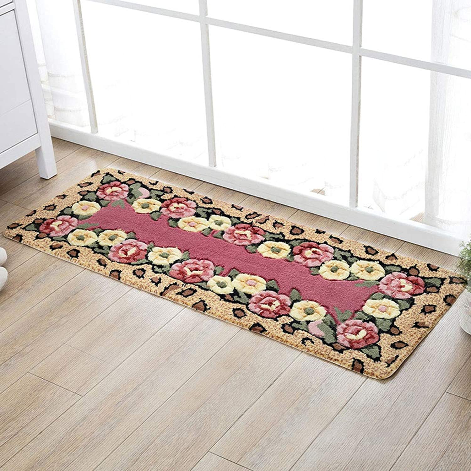 XF Doormats Door Mat Kitchen Mat Long Strips Oil Absorption Anti-Slip Mat Mat Bed Bed Mat Bathroom Door Mat Hallway Furniture (color   B, Size   45X65cm)