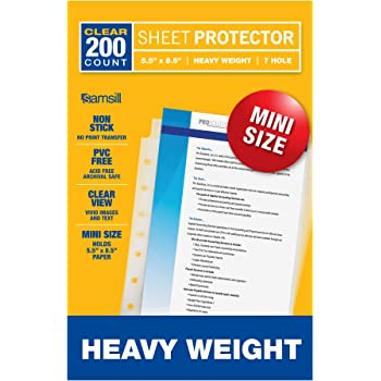 Sheet Protectors Letter Clear Color Quantity 10 Up/&Up 8.5x11 in