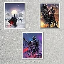Darth Vader Poster Prints Set (3) 8 x 10's