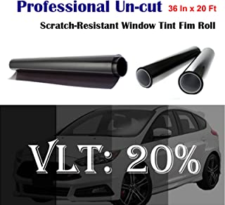 """Mkbrother Uncut Roll Window Tint Film 20% VLT 36"""" in x 20' Ft Feet (36 X 240 Inch) Car Home Office Glass"""
