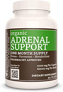 Adrenal Support™ 1,000 mg per Serving Vegan Mega Strength VCaps (Check Supplement Facts Box for a List of Organic Ingredients)