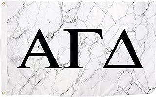 Alpha Gamma Delta Light Marble Sorority Letter Flag Banner 3 x 5 Sign Decor Alpha Gam - Light Marble