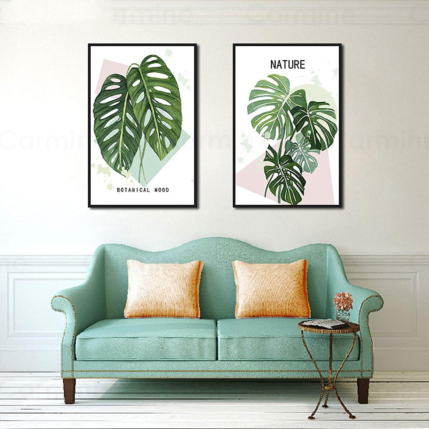 dsajgker Tropical Green Leaf Cheap super special price Plant Canvas Ranking TOP12 Painti Modern Abstract