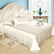 Lilysilk 1B02-01-QN 100% Mulberry Silk Sheets Set 4pcs 19 Momme, Queen, Ivory