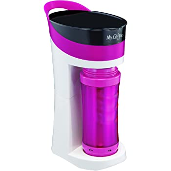 Mr. Coffee Pour! Brew! Go! Personal Coffee Maker, Bubble Gum Pink ;;;