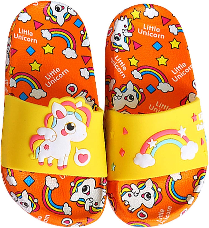 FCTREE Girls Boys Unicorn Shower Sandals Slippers Non-Slip Kids Summer Slide Sandals Water Shoes for Beach Pool (Toddler/Little Kid)