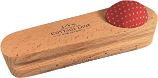 Cottage Lane Tailors Clapper, Quilters Pressing and Seam Flattening Tool, Premium Grade Hardwood with Pin Cushion and 6 inch Scale, Perfect Press by Cottage Lane