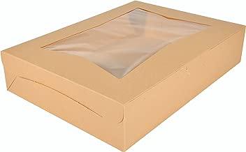 Southern Champion Tray 23133K Kraft Paperboard Lock Corner Window Bakery Box, 19