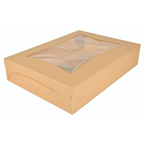 Southern Champion Tray 24053 Paperboard White Window Bakery Box 8 Length x 8 Width x 4 Height Case of 150