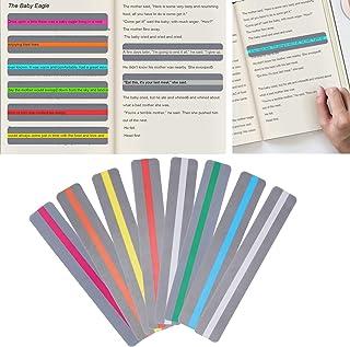 Eulbevoli 8 Bandes de Lecture guidées, Le TDAH et pour réduire Le Stress visuel.Les règles de Lecture Assorties de Couleur...