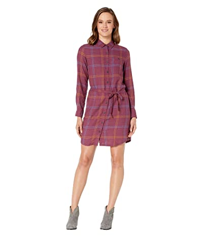 Toad&Co Re-Form Flannel Shirtdress (Port) Women