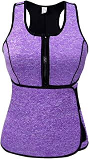 SlimmKISS Neoprene Sweat Vest for Women, Slimming Body Shaper with Adjustable Waist Trimmer Belt, Weight Loss (New Purple. , X-Large)