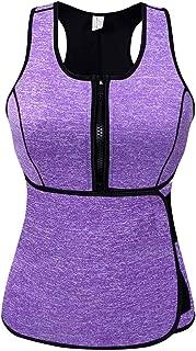 SlimmKISS Neoprene Sweat Vest for Women, Slimming Body Shaper with Adjustable Waist Trimmer Belt, Weight Loss (New Purple., X-Large)